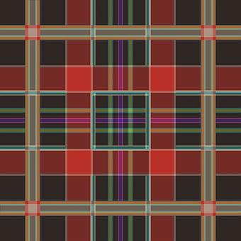 Plaid, Tartan, Scottish, Red, Gold, Black, Green