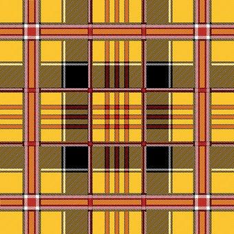 Plaid, Tartan, Scottish, Yellow, Red, Black, Pattern