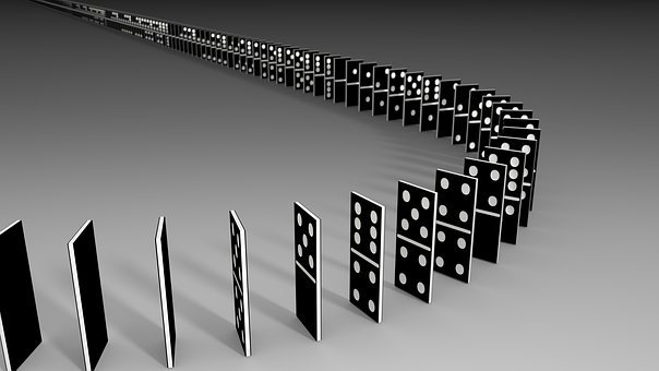 Dominoes, Play, Play Stone, Series, Domino Effect