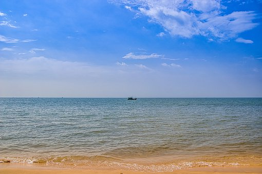Beach, Vietnam, Landscape, Sky, Ocean, Sea, Travel