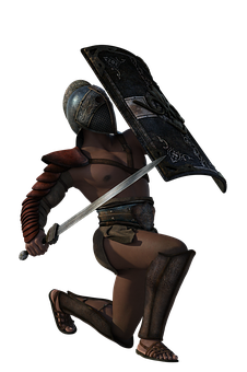 Thracian, Gladiator, Sword, 3d, Warrior, Ancient, Man