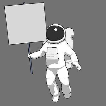 Astronaut, Cosmonaut, 3d, Spaceman, Space, Nasa, Moon