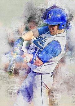 Baseball, Foul Ball, Hit, Baseball Bat, Baseball Player