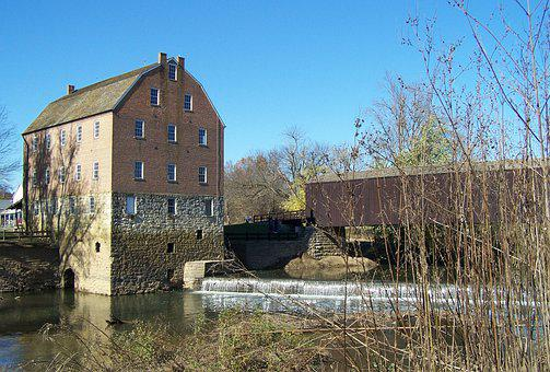 Bollinger Mill, Grist Mill, Jackson Mo, Waterfall