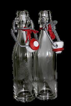 Bottle, Glass Bottle, Snap Closure