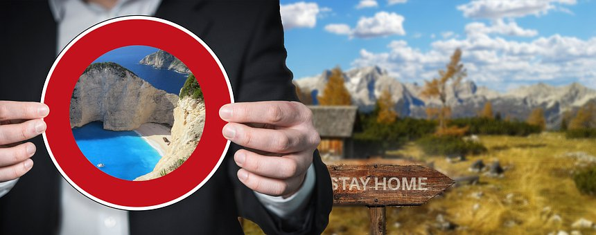 Travel Warning, Travel Ban, Corona, Mountains, Sea
