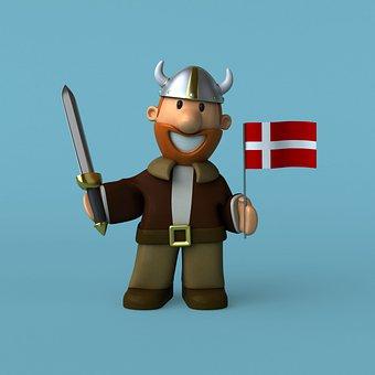 Viking, Denmark, Scandinavian, Scandinavia, 3d, Vikings