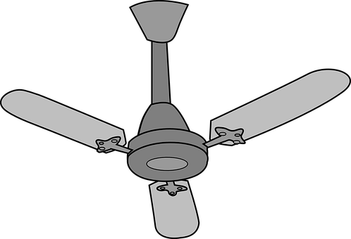 Ceiling-fan, Electrical, Isolated, Air, Appliance