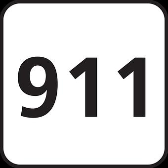 Emergency, 911, Police, Telephone Number, Sign, Symbol