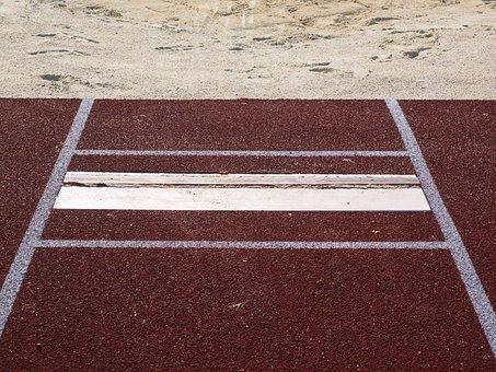 Long Jump, Jump, Pit, Sand, Mark, Absprung Board