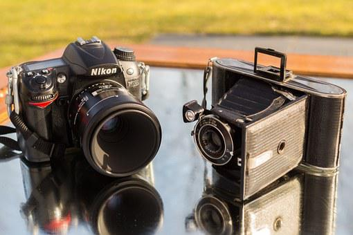 Nikon, Agfa, Old, New, Antique, Modern, Camera, Analog