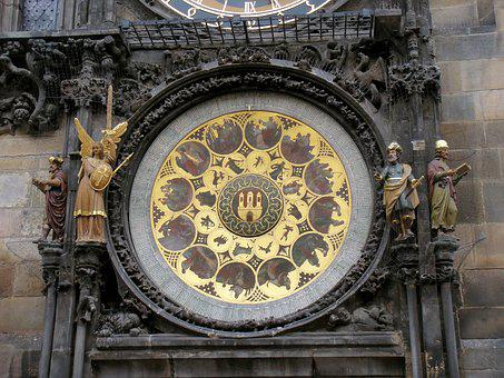 Prague, Clock, Astronomical Clock, Moon Phases