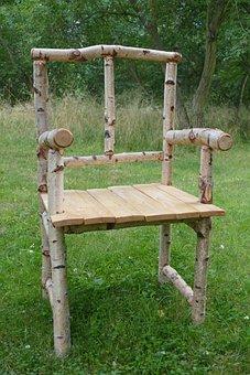Chair, Wood, Birch, Nature, Quaint, Idea, Originally