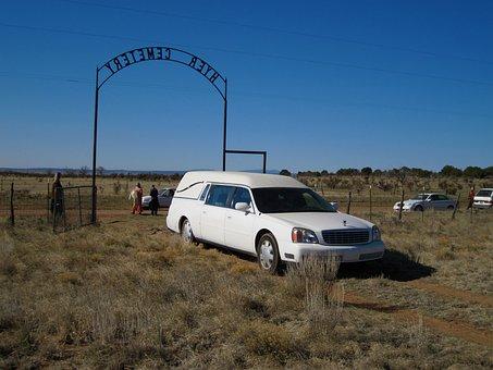 Hearse, Cemetery, Death, Funeral, Car, Graveyard
