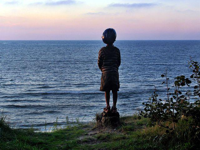 Sea, Child, Dreams, Reverie, West, Thinking