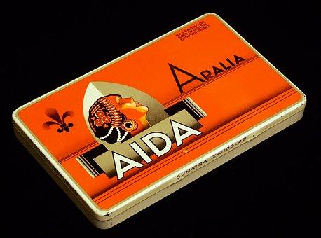 Aida Arralia, Cigars, Box, Package, Tobacco, Cigarette