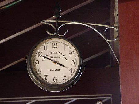 Clock, Railway Station, Time