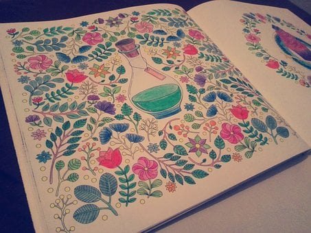 Anti-stress Coloring, Coloring Books For Adults, Art
