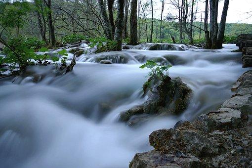 Cascade, Lake, Water, Nature, Water Courses, Croatia