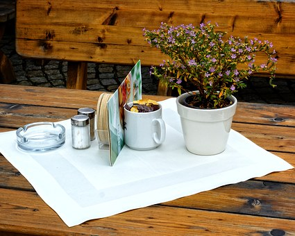 Table, Deco, Decoration, Eat, Restaurant, Table Cover