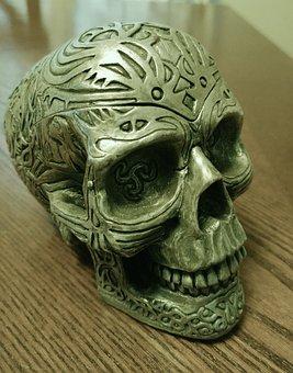 Skull, Figurine, Decoration, Sculpture, Fantasy, Tribal