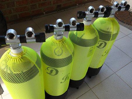 Compressed Air Cylinders, Diving, Breathing Air