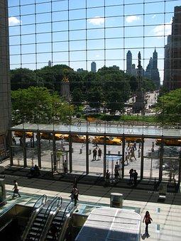 Central Park, New York, Windows, Doors, Glass, Gateway