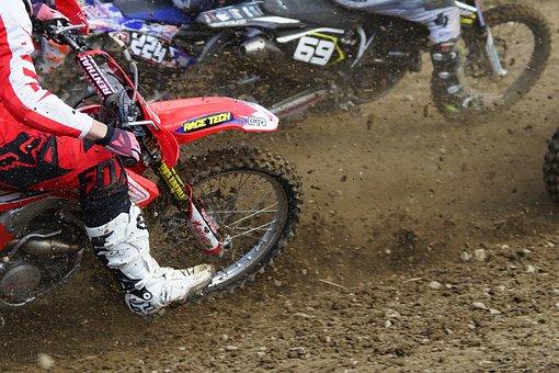 Sport, Motocross, Motorcycle Sport, Spokes, Energy