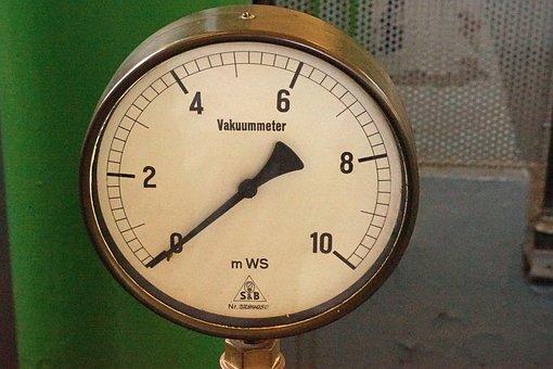 Vacuum Gauge, Ad, Gauge, Old, Control Elements
