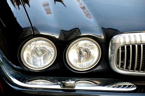 Jaguar, Auto, Spotlight, Chrome, Grille, Bumper, Paint