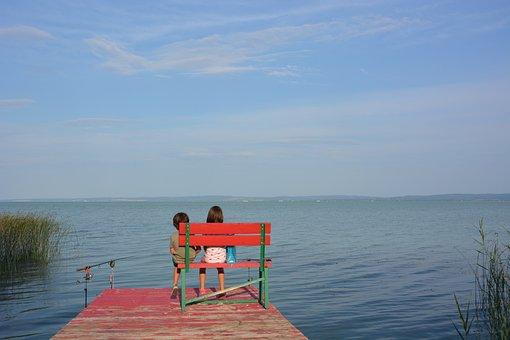 Fishing, Pond, Children, Love, Nature, Water, Lake