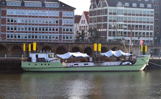 Bremen, Weser, Kill, Water, Ships, Ms Faithful