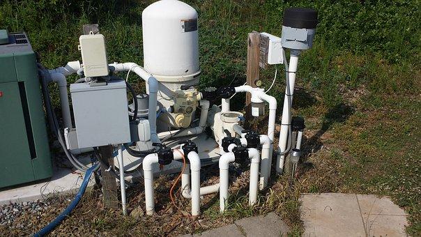 Pool Pump, Filtration, De, Filter, Water, Pool