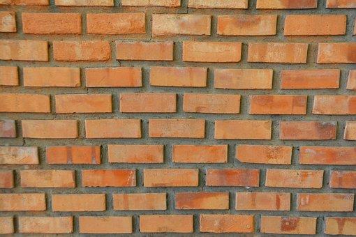 Brick, Wall, Brick Wall, Red, Construction, Clay