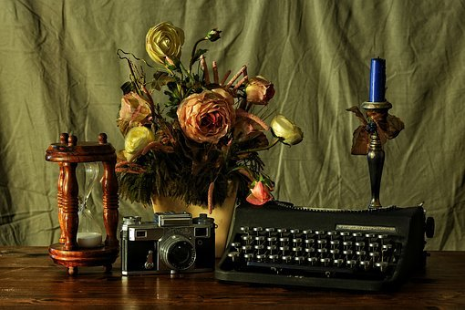 Machine, Photographic, To Write, Time, Texture, Flowers