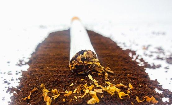 Cigarette, Tobacco, Coffee, Powder, White Background