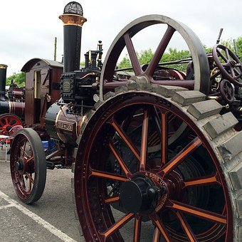 Tractor, Steam, Old, Machine, Industrial, Vehicle