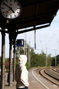 Waiting, Travel, Railway Station, Platform, Track