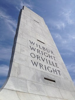 Wright Brothers, Monument, Memorial, Wilbur, Orville
