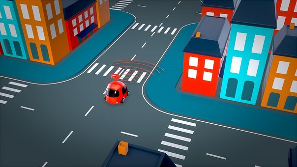 Car, Automobile, 3d, Self-driving