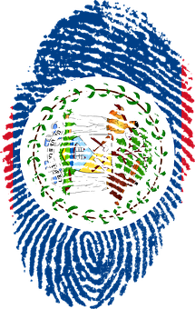 Belize, Flag, Fingerprint, Country