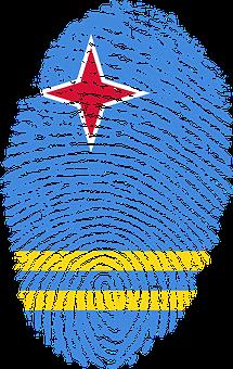 Aruba, Flag, Fingerprint, Country, Pride, Identity