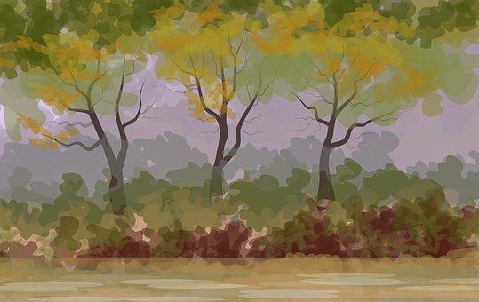 Illustration, Landscape, Background, Nature, Natural