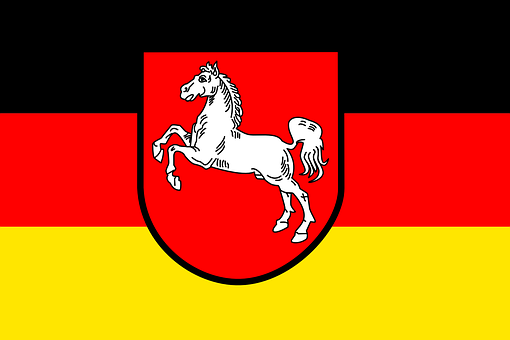 Flag, Lower Saxony, Federal Republic Of Germany