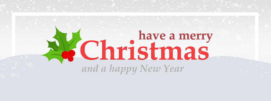 Merry Christmas, New Year, Wish, View, Banner, Cheerful