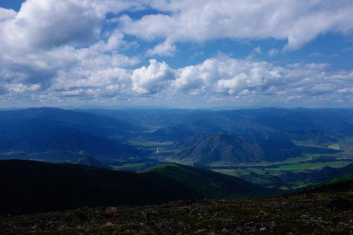 Altai, Mountains, Ridge, Panorama, Landscape, Nature
