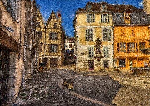 Auxerre, City, Urban, Old Town, Old Houses, Tourist