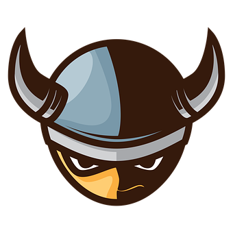 Cartoons, Vikings, Warrior, Medieval, Helmet, Icon