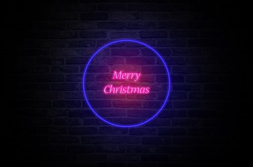 Merry Christmas, Wishes, Neon, Light, Text, Card