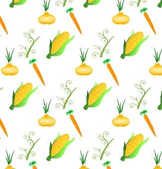 Model, Vegetables, Funny, Back Plan, Pattern, Colorful